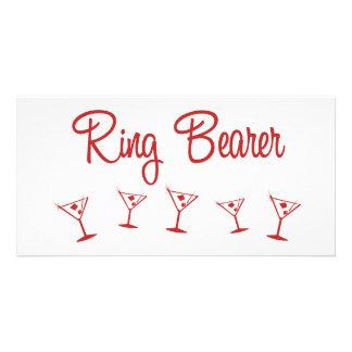 MultiMartini-RingBearer-Red Custom Photo Card