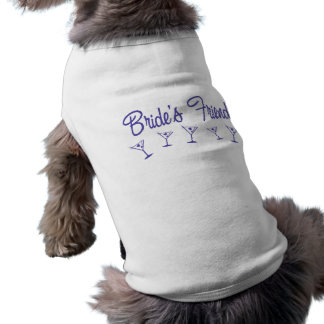 MultiMartiniBridesFriendIndigo Sleeveless Dog Shirt