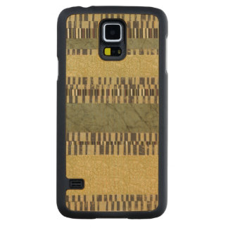 Multipatterned Panel Painting Carved Maple Galaxy S5 Case