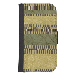 Multipatterned Panel Painting Samsung S4 Wallet Case