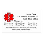 Multiple Allergy Cards - Emergency Business Card Templates