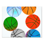 Multiple Basketballs 11 Cm X 14 Cm Invitation Card