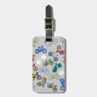 multiple bicycles luggage tag