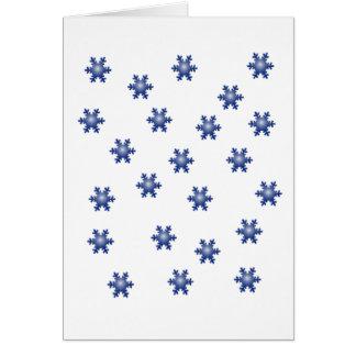 Multiple Blue Snowflake Starburst Greeting Card