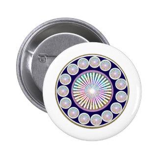 Multiple CHAKRA  -  Sparkle n Live Mandala 6 Cm Round Badge