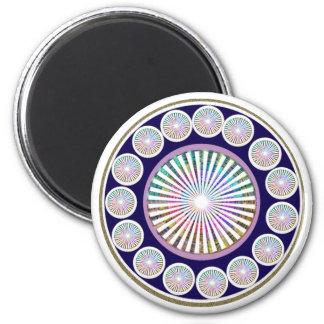 Multiple CHAKRA  -  Sparkle n Live Mandala 6 Cm Round Magnet