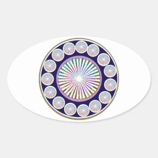 Multiple CHAKRA  -  Sparkle n Live Mandala Oval Sticker