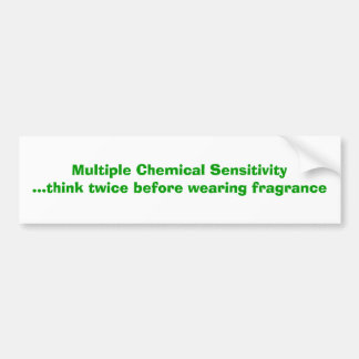 Multiple Chemical Sensitivity Bumper Sticker