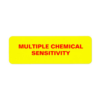 Multiple Chemical Sensitivity sticker