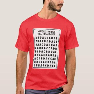 Multiple Choice Cheat Shirt