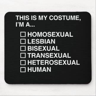 MULTIPLE CHOICE HUMAN COSTUME MOUSE PAD