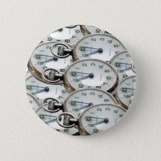 Multiple Clock Faces 6 Cm Round Badge