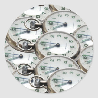 Multiple Clock Faces Classic Round Sticker
