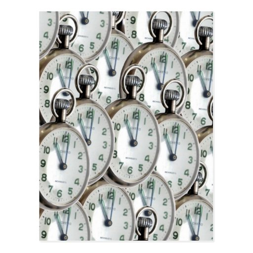 Multiple Clock Faces Post Cards