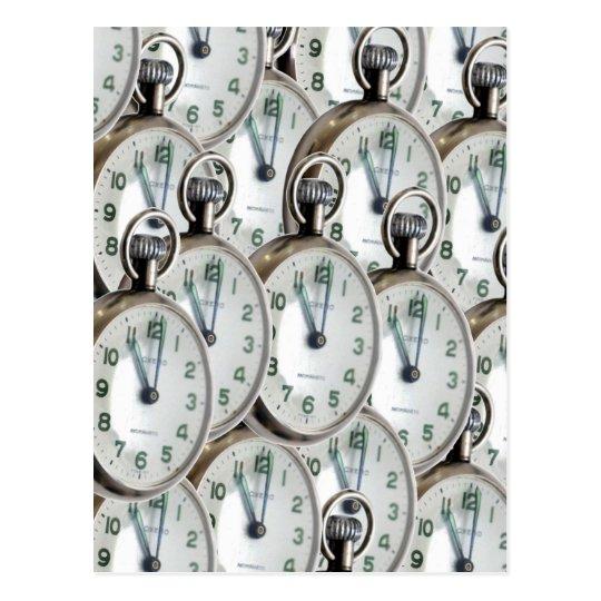 Multiple Clock Faces Postcard