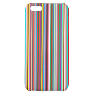Multiple colorful strips iPhone 5C cases