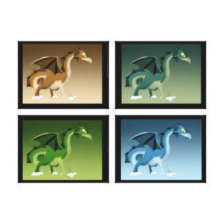 Multiple Dragons 2 Canvas Print