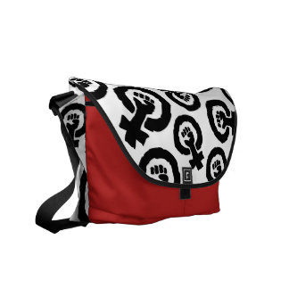 Multiple Female symbol solidarity hand Commuter Bags