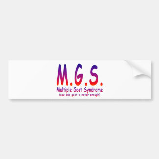 Multiple Goat Syndrome Bumper Sticker