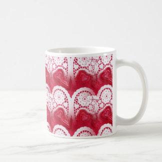 multiple hearts basic white mug