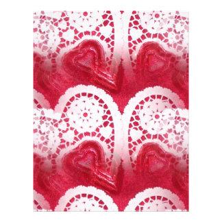 multiple hearts flyer design