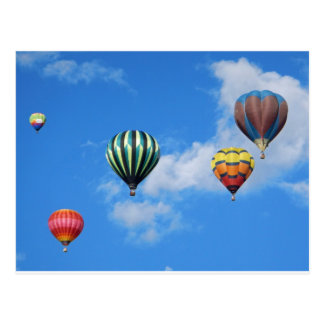 Multiple Hot Air Balloons in the Sky Postcards