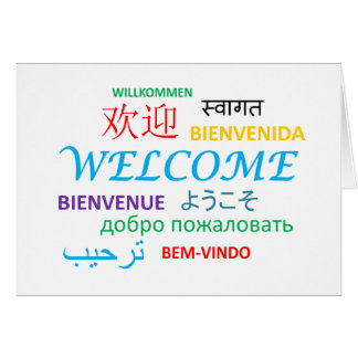 Multiple Language Welcome Greeting Card