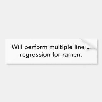 Multiple Linear Regression for ramen Car Bumper Sticker