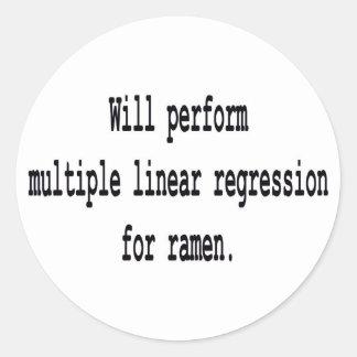 Multiple Linear Regression for ramen Classic Round Sticker