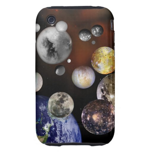 Multiple Moons Space Art NASA Tough iPhone 3 Cover