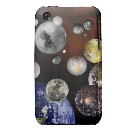 Multiple Moons Space Art NASA iPhone 3 Case-Mate Case