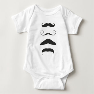 Multiple Moustache Baby Bodysuit