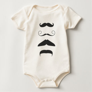 Multiple Moustache Baby Bodysuit
