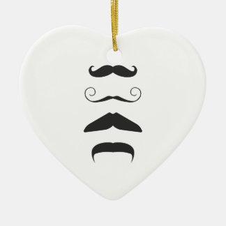 Multiple Moustache Christmas Ornament