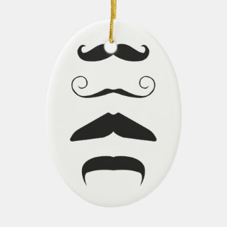 Multiple Moustache Christmas Ornament
