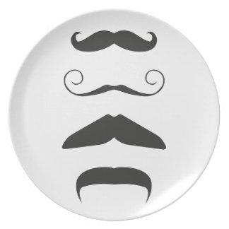 Multiple Moustache Plate