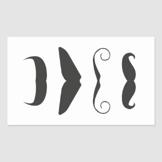 Multiple Moustache Rectangular Sticker