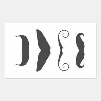 Multiple Moustache Rectangular Sticker