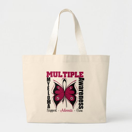 Multiple Myeloma Awareness Butterfly Tote Bags