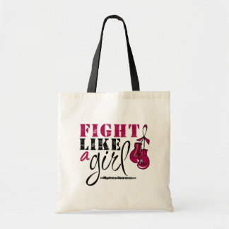 Multiple Myeloma Awareness Fight Like a Girl Tote Bags