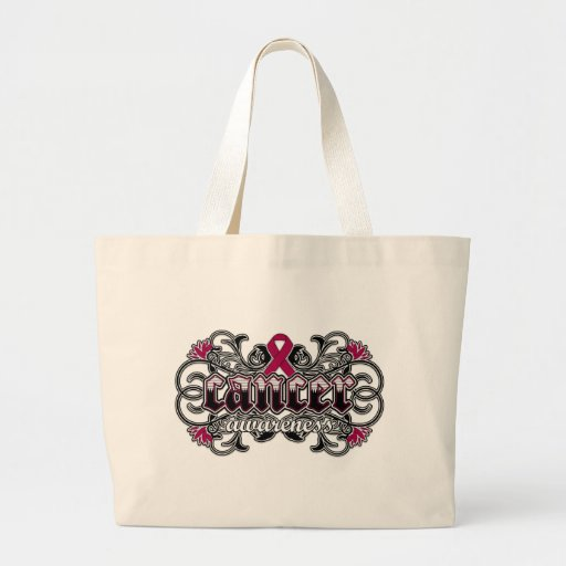 Multiple Myeloma Awareness Floral Ornamental Tote Bags