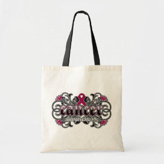 Multiple Myeloma Awareness Floral Ornamental Canvas Bags