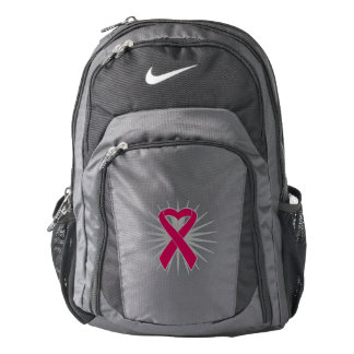 Multiple Myeloma Awareness Heart Ribbon Backpack