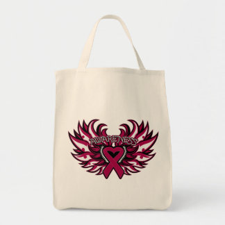 Multiple Myeloma Awareness Heart Wings.png Canvas Bag