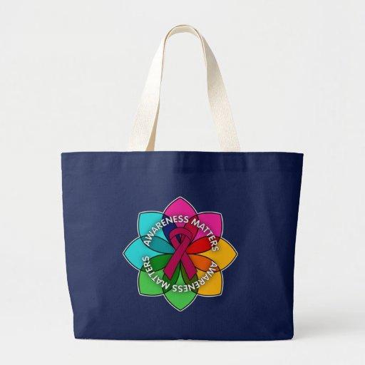 Multiple Myeloma Awareness Matters Petals Canvas Bag