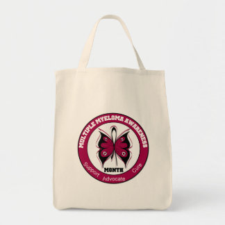 Multiple Myeloma Awareness Month Butterfly 3 Canvas Bags