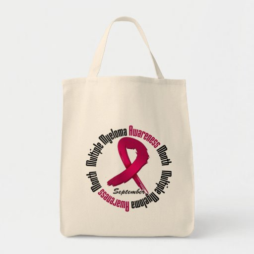Multiple Myeloma Awareness Month Ribbon Tote Bag