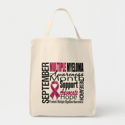 Multiple Myeloma AWARENESS Month TRIBUTE Canvas Bag