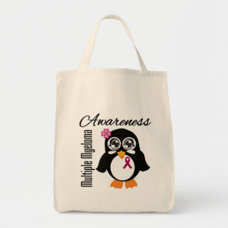 Multiple Myeloma Awareness Penguin Canvas Bags