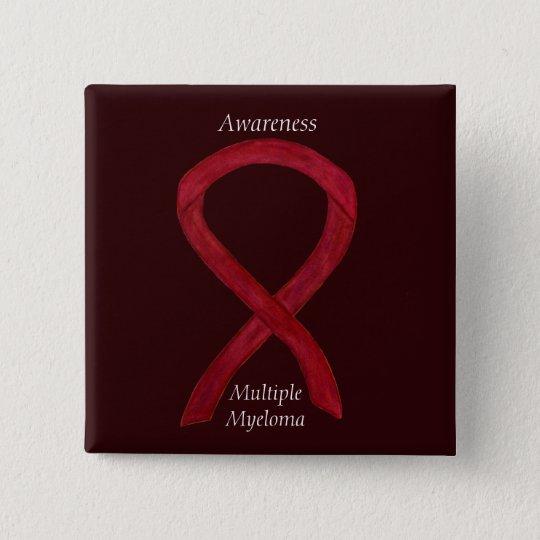 Multiple Myeloma Awareness Ribbon Custom Pins